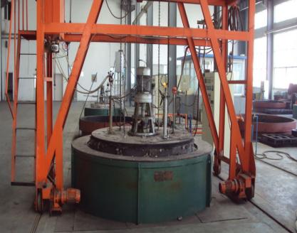 丼式气体渗碳炉
